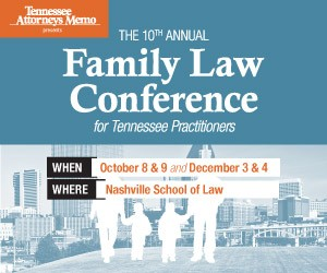 2015 Family Law Conference for Tennessee Practitioners - Materials Only