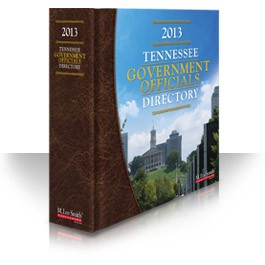 2013 Tennessee Government Officials Directory Online